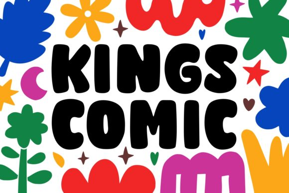 Print on Demand: Kings Comic Display Font By Keithzo (7NTypes)