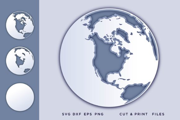 Layered Earth 3D Graphic 3D SVG By 2dooart