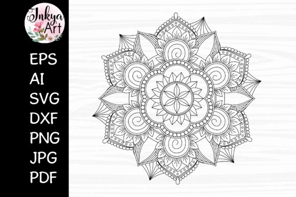 Mandala Sublimation SVG for Cricut Graphic Crafts By InkyaArt