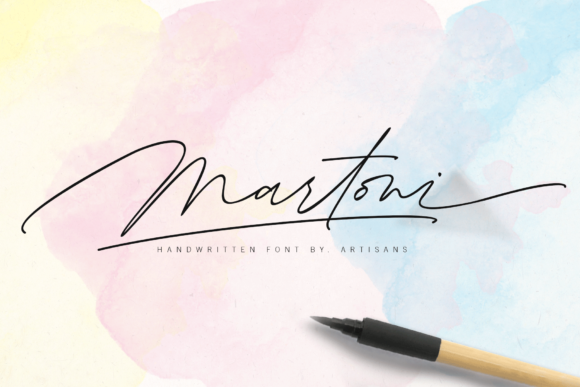 Print on Demand: Martoni Script & Handwritten Font By Artisans