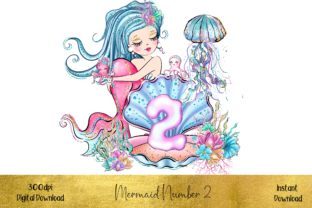 Mermaid Number 2 Graphic Illustrations By STBB