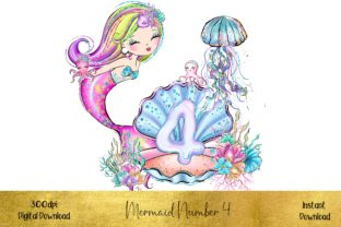 Mermaid Number 4 Graphic Illustrations By STBB