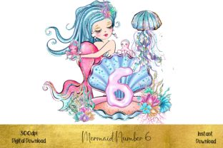 Mermaid Number 6 Graphic Illustrations By STBB