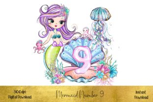 Mermaid Number 9 Graphic Illustrations By STBB