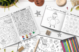 Merry Christmas Coloring Games Graphic Teaching Materials By lexiclaus 11