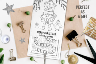 Merry Christmas Coloring Games Graphic Teaching Materials By lexiclaus 12