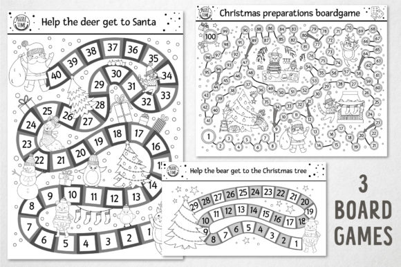 Merry Christmas Coloring Games Graphic Download