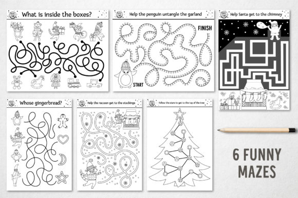 Merry Christmas Coloring Games Graphic Item