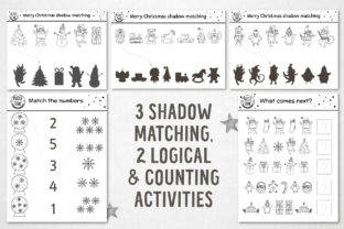 Merry Christmas Coloring Games Graphic Teaching Materials By lexiclaus 5
