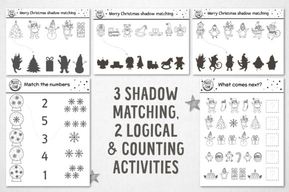 Merry Christmas Coloring Games Graphic Preview