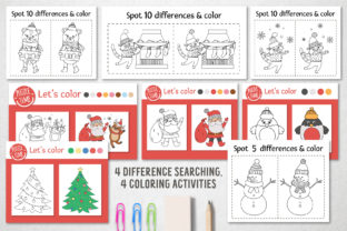 Merry Christmas Coloring Games Graphic Teaching Materials By lexiclaus 6