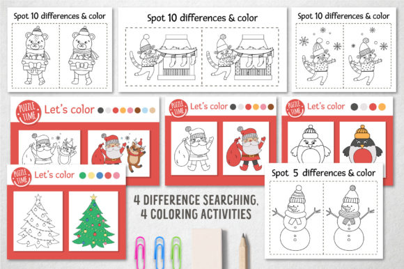 Merry Christmas Coloring Games Graphic Image