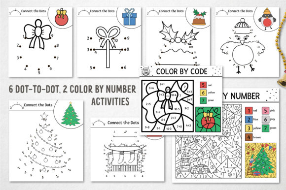 Merry Christmas Coloring Games Graphic Design Item