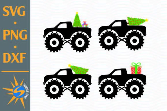 Print on Demand: Monster Truck Christmas Graphic Crafts By SVGStoreShop