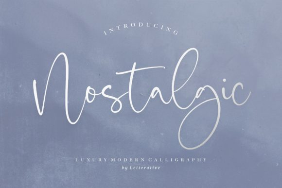 Print on Demand: Nostalgic Script & Handwritten Font By letterativestudio