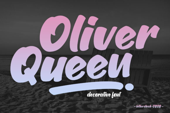Print on Demand: Oliver Queen Display Font By Gumacreative