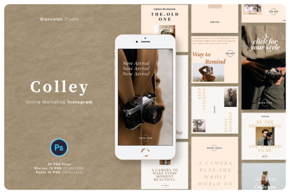 Print on Demand: Online Marketing Instagram Colley Graphic Web Elements By Blancalab Studio