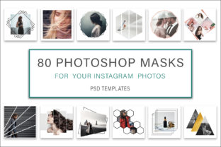 Print on Demand: Photoshop Mask Instagram Post Graphic Graphic Templates By AS Digitale