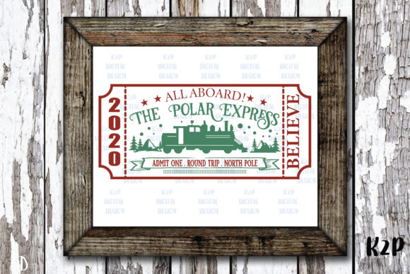 Print on Demand: Polar Express Ticket Svg, Christmas SVG Graphic Crafts By KtwoP