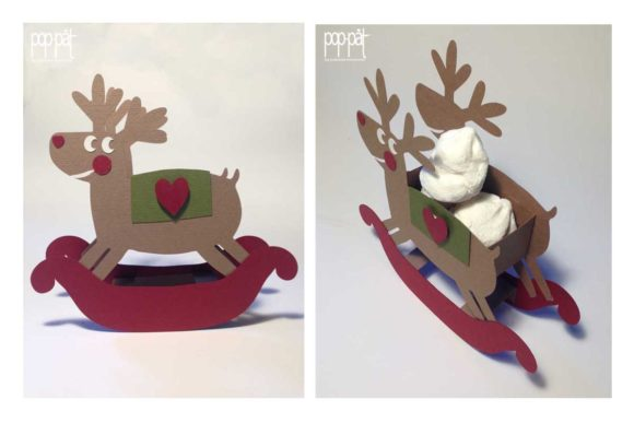 Rocking Deer Graphic 3D Christmas By patrizia.moscone