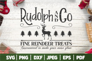 Rudolph & Co Fine Reindeer Treats SVG Graphic Crafts By SeventhHeaven Studios