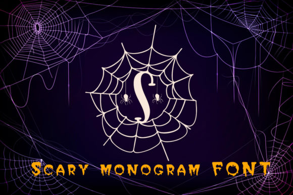 Print on Demand: Scary Monogram Decorative Font By Aqeela Studio