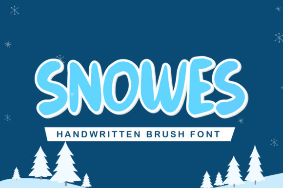 Print on Demand: Snowes Display Font By hugefonts