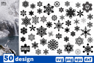 Snowflakes Silhouette SVG Bundle Graphic Crafts By SvgOcean