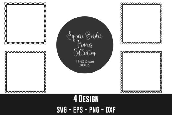 Square Border Frames Clip Art Graphic Crafts By creation