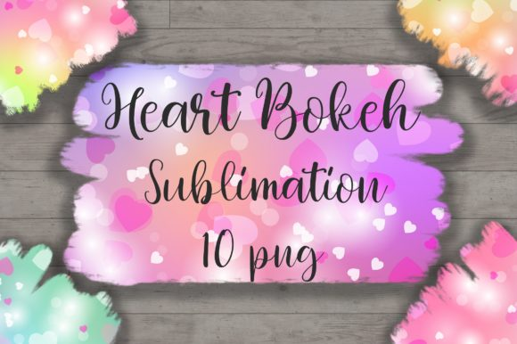 Sublimation Heart Bokeh Background Graphic Backgrounds By PinkPearly