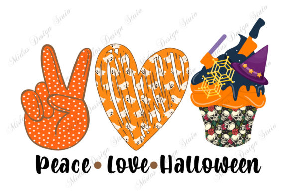 Sublimation - Peace Love Halloween Graphic Crafts By MidasStudio