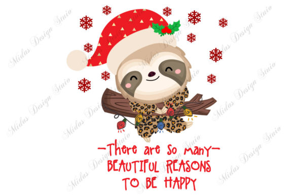 Sublimation - Sloth Christmas Graphic Crafts By MidasStudio