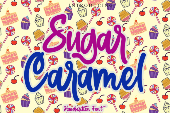Print on Demand: Sugar Caramel Script & Handwritten Font By gunawanletter
