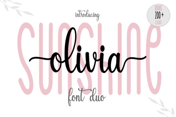 Print on Demand: Sunshine Olivia Script & Handwritten Font By Fillo Graphic