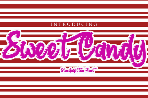 Print on Demand: Sweet Candy Script & Handwritten Font By gunawanletter