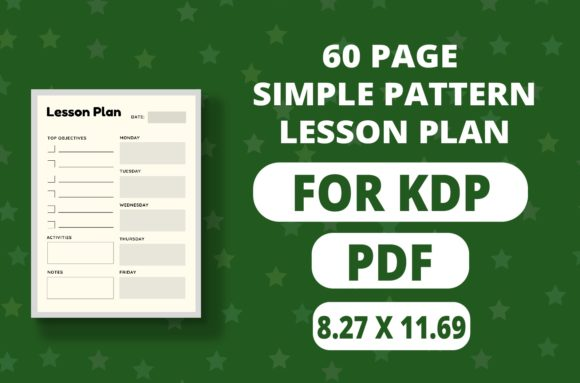Print on Demand: Teacher Planne Simple Lesson Plan Graphic Print Templates By RefreshUp