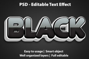 Print on Demand: Text Effect Black Premium Graphic Graphic Templates By yosiduck