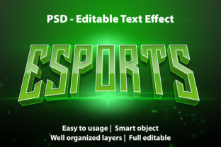 Print on Demand: Text Effect E-sports Premium Grafik Grafik-Templates von yosiduck