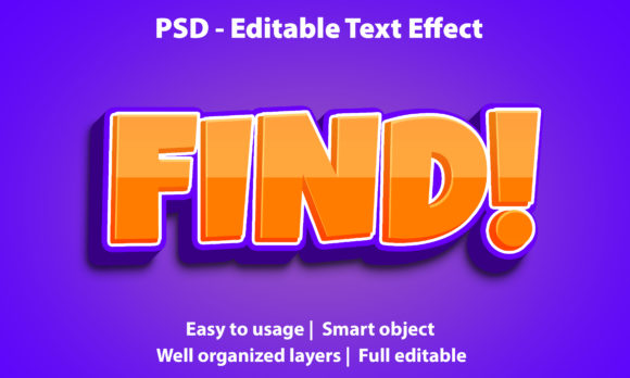 Text Effect Find Premium Graphic