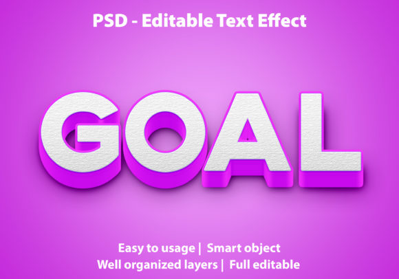 Text Effect Goal Premium Graphic Graphic Templates By yosiduck