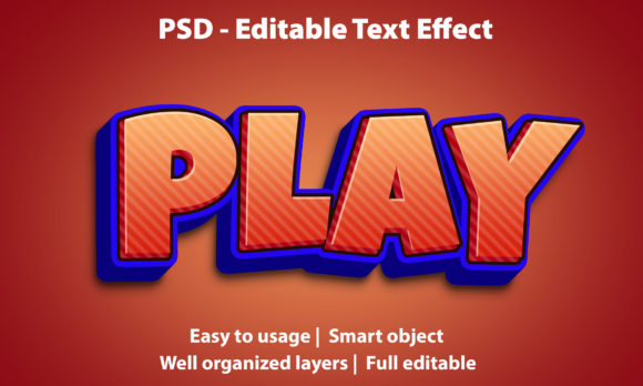 Text Effect Play Premium Graphic