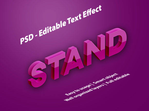 Text Effect Stand Premium Graphic