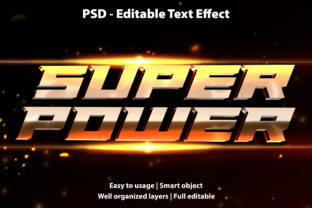 Print on Demand: Text Effect Super Power Premium Graphic Graphic Templates By yosiduck