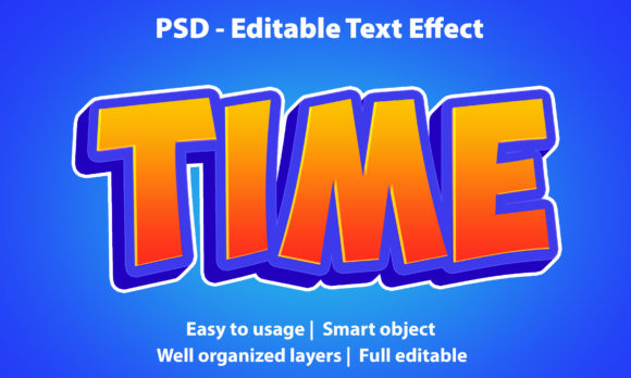 Text Effect Time Premium Graphic Graphic Templates By yosiduck