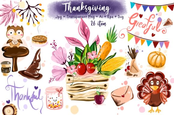 Thanksgiving Collection Graphic Illustrations By ArtstudioByKhushbu