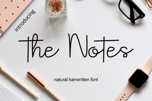 Print on Demand: The Notes Script & Handwritten Font By Hardiboy Design