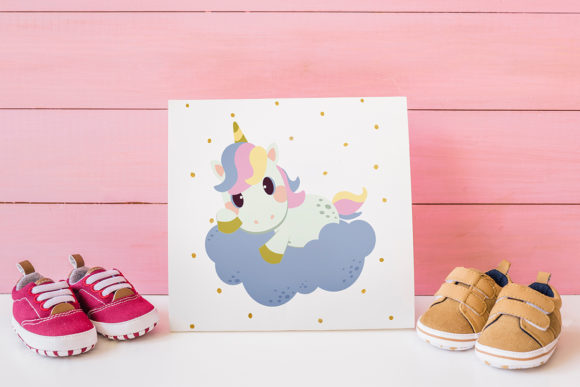 Unicorn Set with SVG EPS PNG Clipart Graphic Design