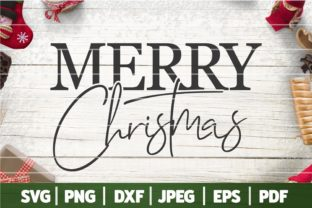 Vintage Merry Christmas SVG Graphic Crafts By SeventhHeaven Studios