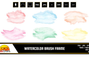 Watercolor Brush Frame Clip Art Graphic Illustrations By radigrafis