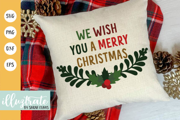 Print on Demand: We Wish You a Merry Christmas Graphic Crafts By illuztrate